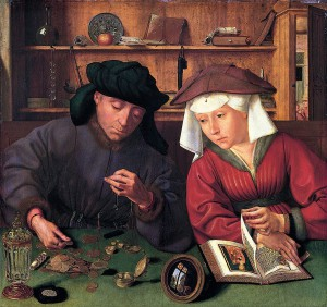 Quinten Massijs, De goudweger en zijn vrouw
