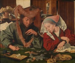 Marinus van Reymerswale De geldwisselaar en zijn vrouw (1539)