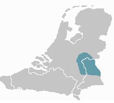 verspreiding Kleverlands, bron Wikipedia.