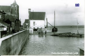 Hoog water in ca 1950