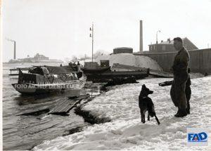 Hoge Maas en sneeuw 1954